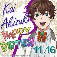 Kai Akizuki Happy Birthday Card