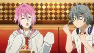 Sosuke watching Uta eat the honey toast