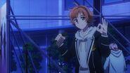 Hinata giving Sosuke a sign