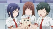 Minori being petted as a puppy