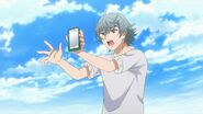 Sosuke telling Saku and Uta about tracking the location of the white shadows