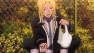 Ryo leaving cat food out for cats