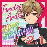 Tamotsu Araki Happy Birthday Card