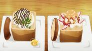 Saku's honey toast presentation