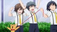 The children pulling Minori as a cat with them