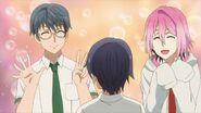 Uta telling Saku about using the teachers lavatory