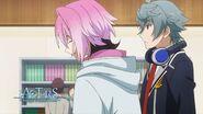 Sosuke and Uta standing by for Saku to see his sister