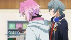 Sosuke and Uta standing by for Saku to see his sister.jpg