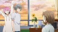 Sosuke and Uta telling Nozomi about helping someone