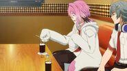 Uta pouring some sweetener