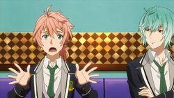 Koya disagreeing to the idea with Seijun next to him.jpg