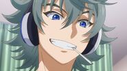 Sosuke grinning about finishing the song