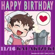 Happy Birthday Kai Akizuki Chibi