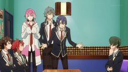 Saku persuading to Chiguma, Mike, and Kai.jpg