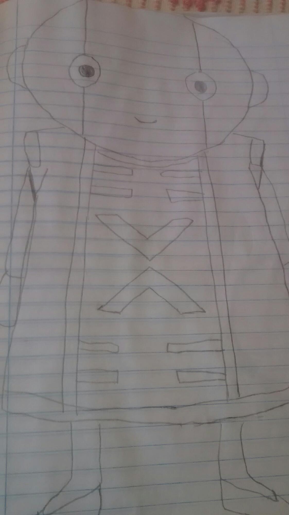 Olha o que o meu amigo desenhou
