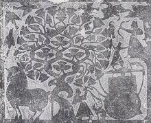 Wu liang shrine relief depicting xihe, yi, and fusang tree.jpg