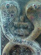 Relief of a serpent deity, Gudilova, Andhra Pradesh, India - 20100118