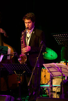Emile Ryjoch playing with the Mike Stewart Big Band at the Adelaide Music Collective Jazz Hall of Fame Induction Night.jpg