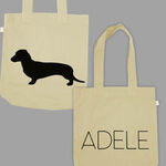 Dog natural tote bag