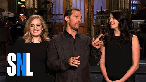 SNL Host Matthew McConaughey Tells Adele and Cecily a Quick Story