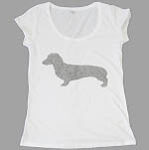 Dog Ladies White T-Shirt