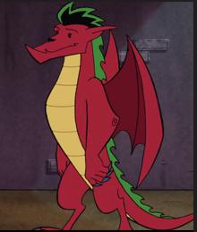 Jake as a dragon in Season 1.PNG