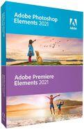 Adobe Photoshop Elements 2021 & Adobe Premiere Elements 2021 box
