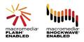 Macromedia Flash Shockwave Enabled logos 1997