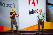 Satya Nadella and Shantanu Narayen at Adobe MAX 2014