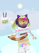 Player Holding the Boomerang Throw Toy