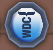WDC Badge on the board