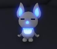 A Neon albino bat