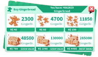 Robux - Gingerbread Exchange Rate Christmas Event 2019