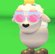 Egg Glasses on a lamb