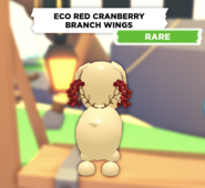 Eco Red Cranberry Branch Wings on a dog