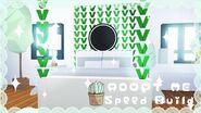 Adopt me aesthetic PLANTS bedroom SPEED BUILD ~ Adopt me build hacks