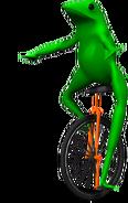 Frog unicycle