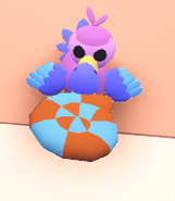 Dodo holding ammonite