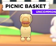 Picnic Basket on a Dog