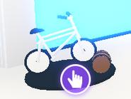 The Current Bike in the Car Showroom.