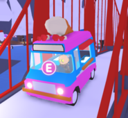 A player driving an Ice Cream Truck