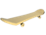 Golden Skateboard