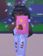 A player using the Huggable Pillow