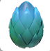 A Mythic Egg in a player's inventory