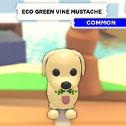 Eco Green Vine Mustache on a Dog