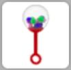 Bubblegum Machine Rattle