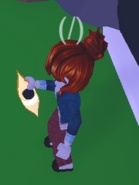 Player Holding Teleportation Potion