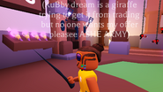 A player holding the witches wand