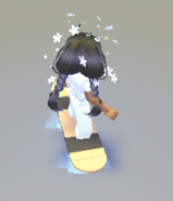 A player riding the Hoverboard