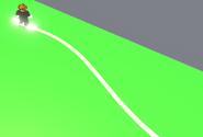 Neon White Skateboard Trail